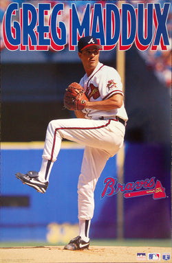 "Greg Maddux ""Prime"" Atlanta Braves MLB Baseball Action Poster - Starline 1995"