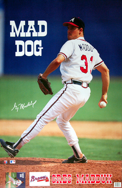 "Greg Maddux ""Mad Dog"" Atlanta Braves Poster - Marketcom Inc. 1993"