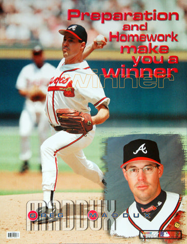 "Greg Maddux ""Winner"" Atlanta Braves MLB Motivational Poster - Photo File 1999"