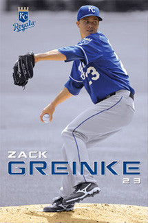"Zack Greinke ""Royal 23"" Kansas City Royals Poster - Costacos 2010"