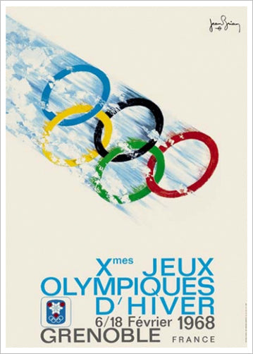 Grenoble 1968 Winter Olympic Games Official Poster Reprint - Olympic Museum