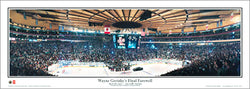 "New York Rangers ""Gretzky's Final Farewell"" Madison Square Garden Panoramic Poster - Everlasting Images"