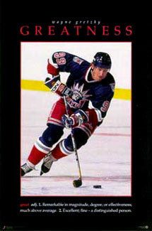 "Wayne Gretzky ""Greatness"" New York Rangers Poster - Costacos Brothers 1997"
