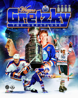 "Wayne Gretzky ""The Great One"" Edmonton Oilers 1978-88 Historic Premium Poster Print - Photofile"