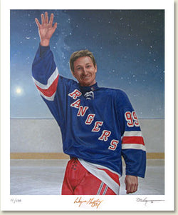 "Wayne Gretzky ""The Great Farewell"" by Ken Danby - LE Litho #2285/9999"