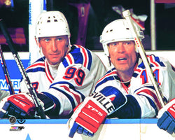 Wayne Gretzky and Mark Messier New York Rangers 1996 Premium Poster Print - Photofile Inc.