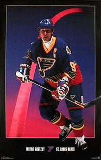 "Wayne Gretzky ""Arch"" St. Louis Blues Poster - Costacos Brothers 1996"
