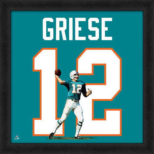 "Bob Griese ""Number 12"" Miami Dolphins NFL FRAMED 20x20 UNIFRAME PRINT - Photofile"