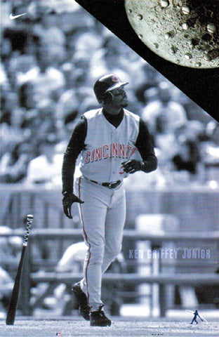 "Ken Griffey Jr. ""Good Thing Balls are Cheap"" Cincinnati Reds Poster - Nike 2000"
