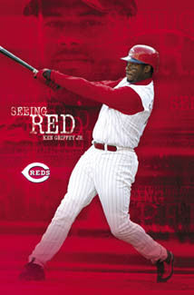 "Ken Griffey Jr. ""Seeing Red"" Cincinnati Reds Poster - Costacos 2004"