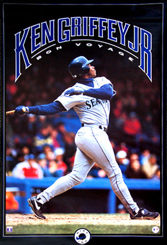 "Ken Griffey Jr. ""Bon Voyage"" (1993) Seattle Mariners Poster - Nike Inc."