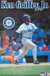 "Ken Griffey Jr. ""Action"" Seattle Mariners Poster - Starline 1993"
