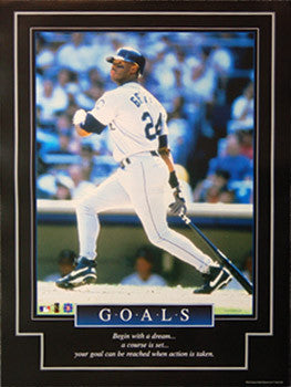 "Ken Griffey Jr. ""Goals"" Seattle Mariners Motivational Poster - Brockworld 1999"