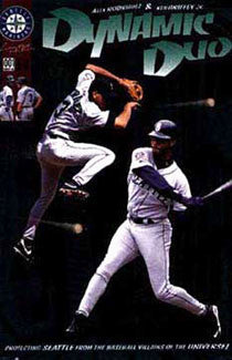 "Ken Griffey Jr. and Alex Rodriguez ""Dynamic Duo"" Poster - Costacos 1998"