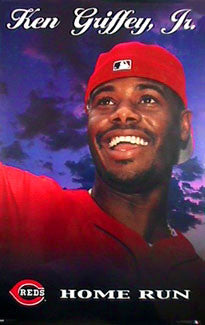 "Ken Griffey Jr. ""Home Run"" Cincinnati Reds Poster - Costacos 2000"