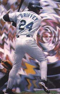 "Ken Griffey Jr. ""Reign"" Seattle Mariners Poster - Nike Inc. 1997"