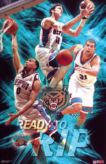 "Memphis Grizzlies ""Ready to Rip"" (Gooden, Battier, Pau Gasol) Poster - Starline 2003"