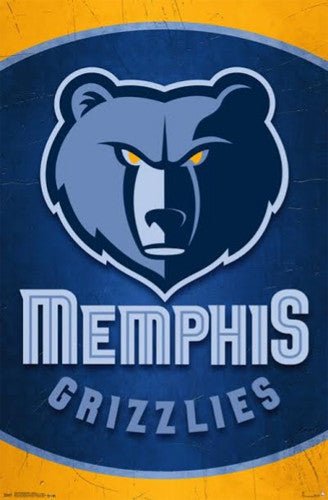 Memphis Grizzlies NBA Basketball Official Team Logo Poster - Trends International