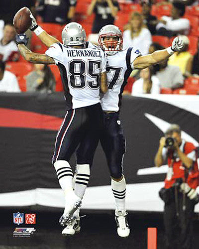 "Rob Gronkowski and Aaron Hernandez ""Perfect Pair"" (2011) New England Patriots Premium Poster Print - Photofile 16x20"