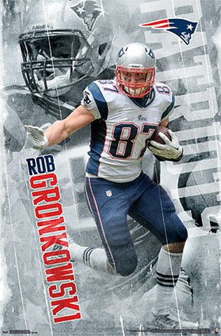 "Rob Gronkowski ""Action"" New England Patriots NFL Football Poster - Trends International"