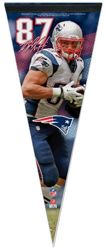 "Rob Gronkowski ""Signature Series"" New England Patriots Premium Felt Collector's Pennant - Wincraft"