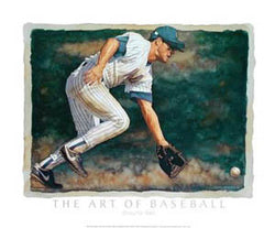 """Ground Ball"" (Art of Baseball) - CAP 2003"