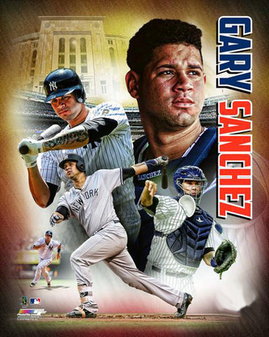 "Gary Sanchez ""Superstar"" New York Yankees Premium MLB Poster Print - Photofile 16x20"