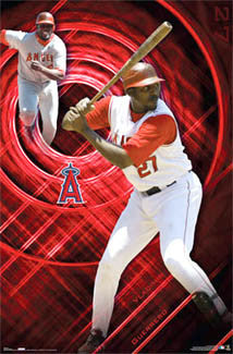"Vladimir Guerrero ""In the Zone"" Los Angeles Angels Poster - Costacos 2007"