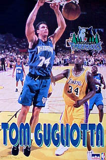 "Tom Gugliotta ""Slam Dunk"" Minnesota Timberwolves Poster - Starline 1997"