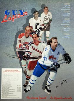 "Guy Lafleur ""The Living Legend"" Career Retrospective (1968-1991) Poster"