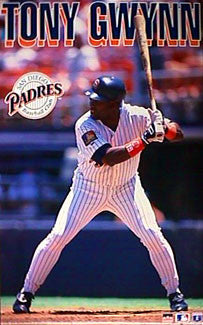 "Tony Gwynn ""Action"" San Diego Padres Poster - Starline Inc. 1995"