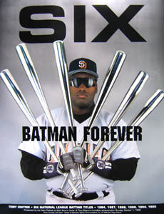 "Tony Gwynn ""Batman Forever"" Six Batting Titles Commemorative Poster - San Diego Padres"