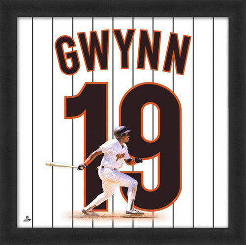 "Tony Gwynn ""Number 19"" San Diego Padres FRAMED 20x20 UNIFRAME PRINT - Photofile"