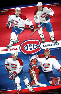 "Montreal Canadiens ""Four Strong"" Team Poster - Costacos 2007"