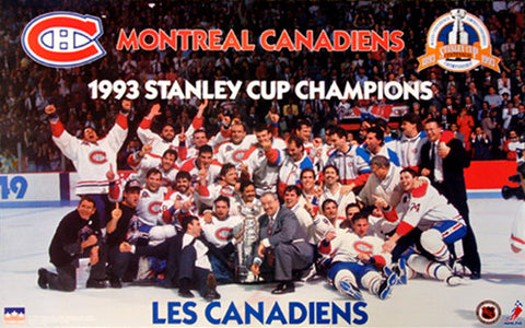Montreal Canadiens 1993 Stanley Cup On-Ice Team Celebration Poster - Starline Inc.