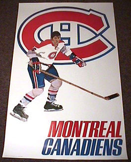 Montreal Canadiens 1973 Team Logo Theme Art Poster - Sportsgraphics Inc.