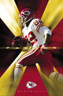 "Dante Hall ""X-Factor"" Kansas City Chiefs Poster - Costacos 2004"