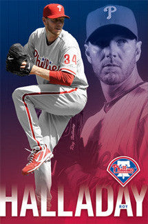 "Roy Halladay ""Ace"" Philadelphia Phillies MLB Baseball Poster - Costacos 2010"