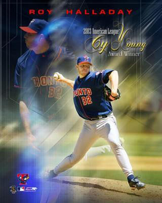 Roy Halladay Toronto Blue Jays 2003 Cy Young Commemorative Premium Poster Print - Photofile Inc.