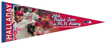 Roy Halladay Perfect Game Commemorative Premium Pennant (LE /2010)