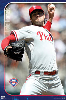 "Cole Hamels ""Action"" Philadelphia Phillies Poster - Costacos 2009"