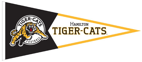 Hamilton Tiger-Cats CFL Football Team Premium Felt Pennant - The Sports Vault Canada
