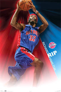 "Richard Hamilton ""RIP"" Detroit Pistons NBA Action Poster - Costacos 2006"
