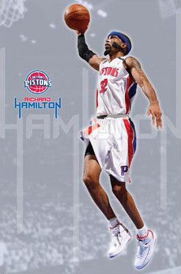 "Richard Hamilton ""Flight"" Detroit Pistons Poster - Costacos 2008"