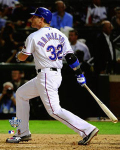 "Josh Hamilton ""World Series Blast"" (2010) - Photofile 16x20"