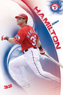 "Josh Hamilton ""In the Zone"" Texas Rangers Poster - Costacos 2011"