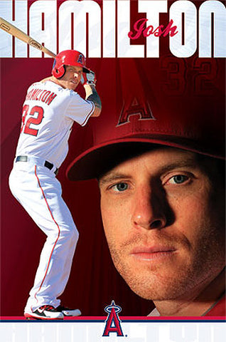 "Josh Hamilton ""California Crusher"" L.A. Angels MLB Action Poster - Costacos 2013"