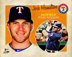"Josh Hamilton ""Retro SuperCard"" Poster - Photofile 16x20"