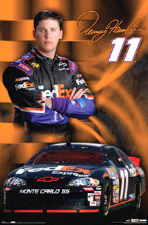 "Denny Hamlin ""Superstar"" NASCAR Racing Official Poster - Costacos Sports 2007"