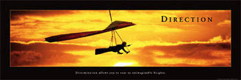 "Hang Gliding ""Direction"" Motivational Poster - Front Line (12x36)"